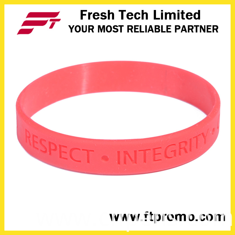 Promotional Sports Silicone Wristband with Custom Design