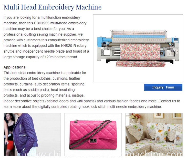 Cshx233 Garment Quilting and Embroidery Machine