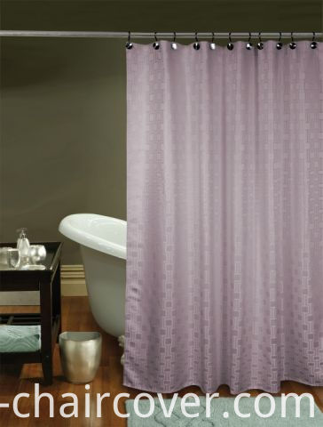 Hotel Bathroom Curtain Polyester Green Fabric St1804
