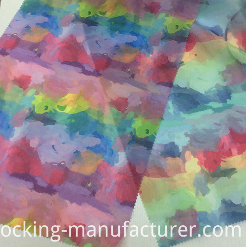 New Printed Colorful Organza Fabric for Garment and Textiles