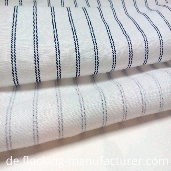 Linen Viscose Stripes Printed Garment/ Home Textile Fabric