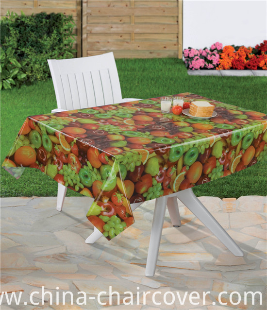 Full Colors PVC Printed Patterns Transparent Tablecloth and Easy to Clean for Home/Party