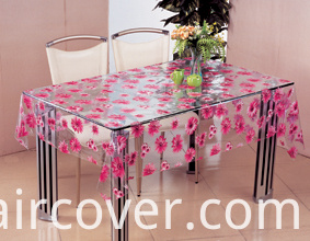Wholesale Cheap PVC Printed Transparent Tablecloth for Wedding