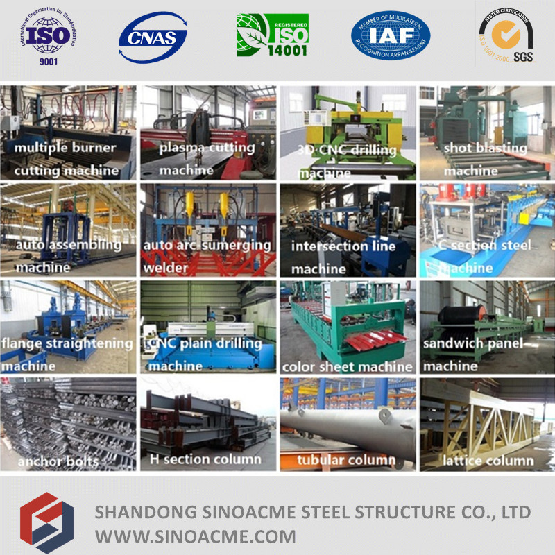 Prefabricated Light Steel Structure Building for House and Office