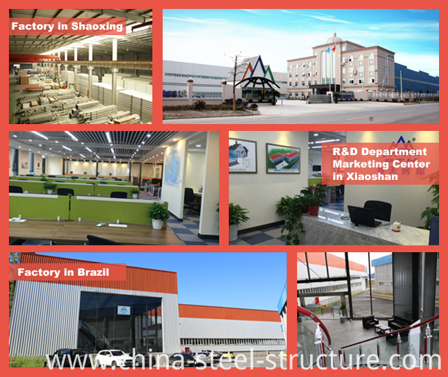 Construction Design Light Steel Structure as Prefab Hotel
