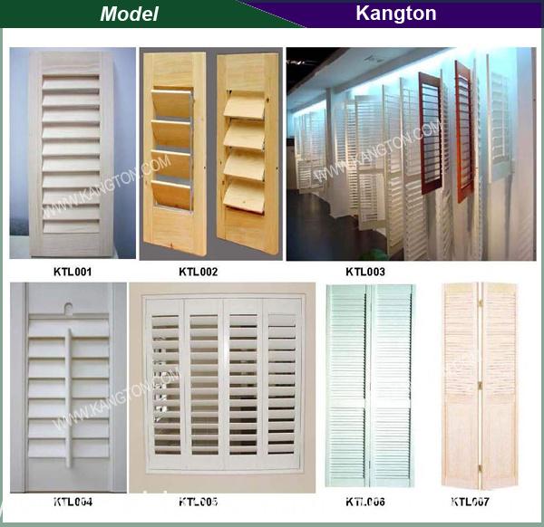 Bi-Fold Wooden Shutter Door (louver door)