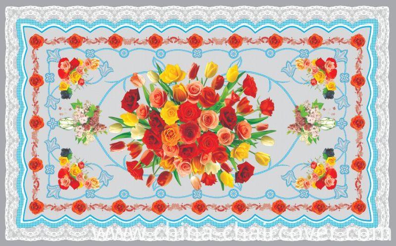 China High Quality LFGB Independent Design PVC Material Printed Transparent Tablecloth (TZ-0036) 80*130cm