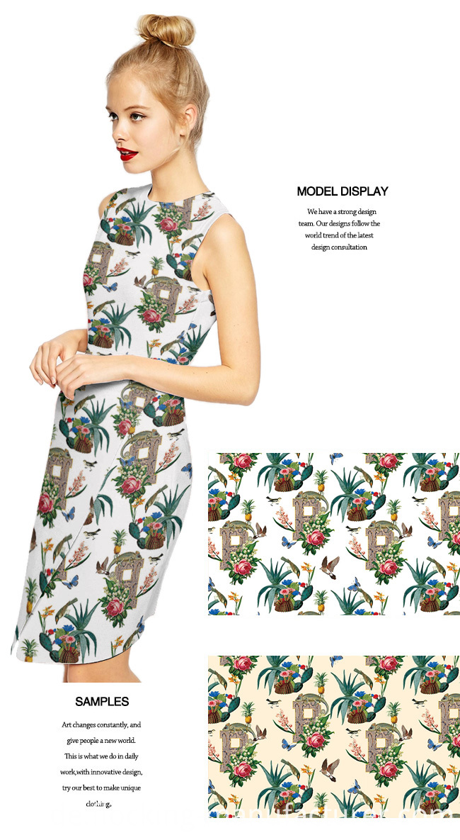 Digital Printed Polyester Fabric for Lady's Garment