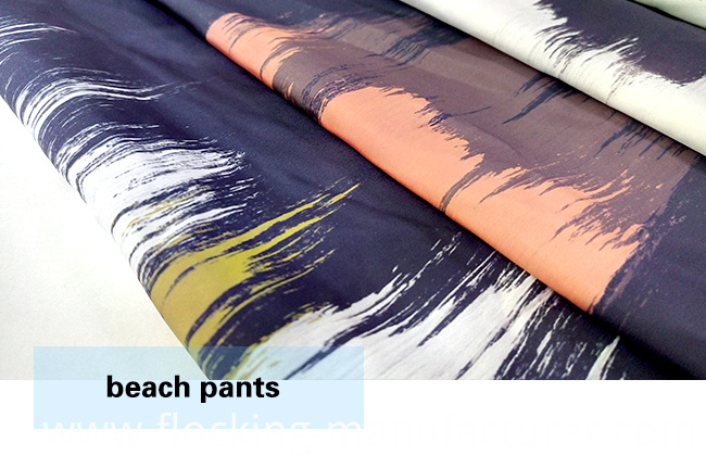 Polyester Brushed Printed Beach Wear/ Casural Wear Fabric
