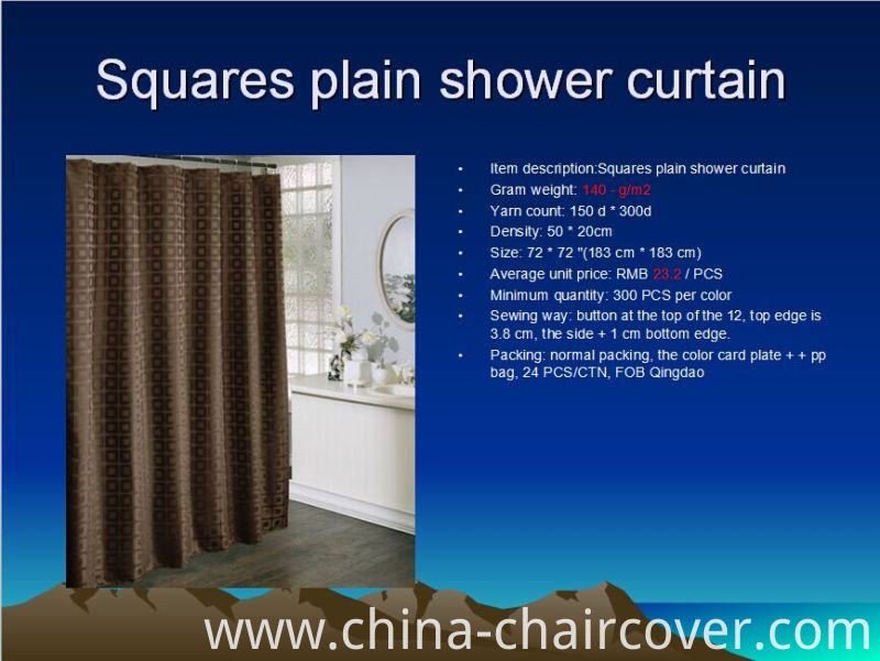 Diamond Yarn-Dyed Shower Curtain St1807