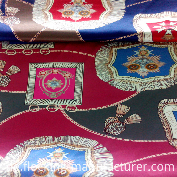Satin Printed Garment and Home Textile Fabric