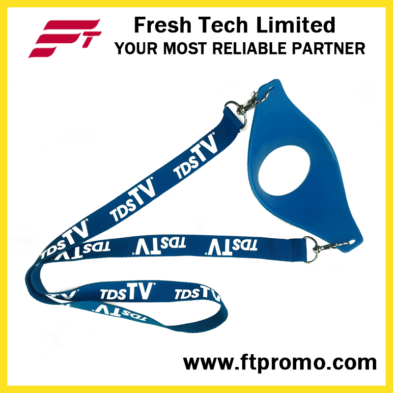 Whloesale Promotion Polyester Lanyard with Designed Logo