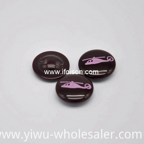 Polyester Shank Button With Laser Logo