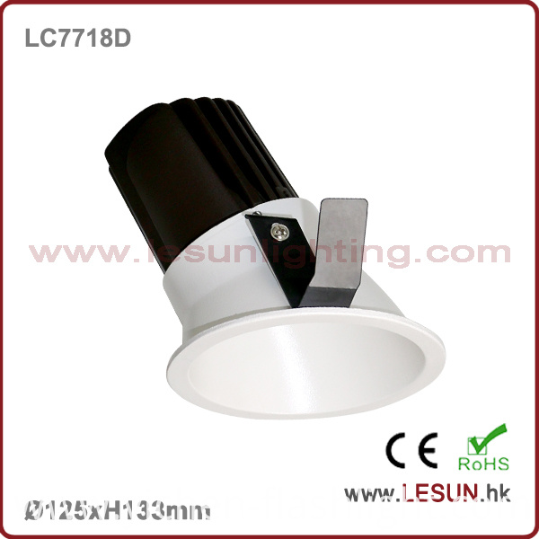 Recessed Instal 12W Dimmable COB LED Ceiling Downlight LC7718d