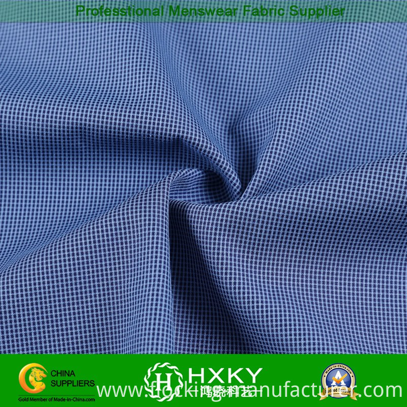 Floss Cation Polyester Fabric with Checks Pattern for Jacket
