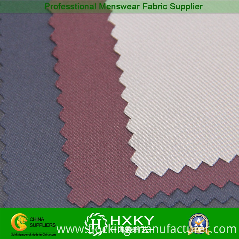 Twill Imitation Memory Polyester Fabric for Trench Coat