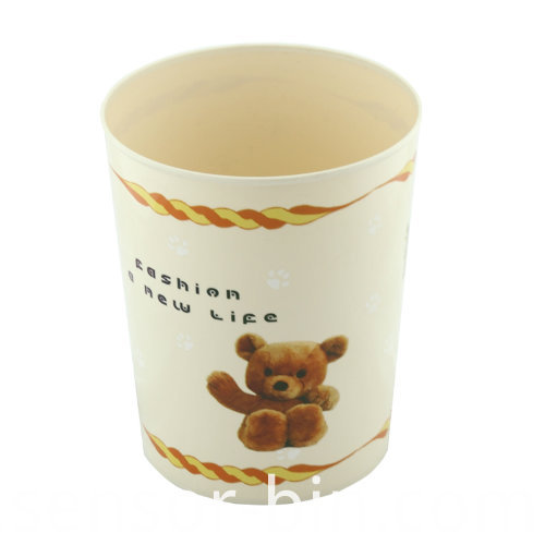 Lovely Bear Printing Living Room Garbage Bin (FF-5226)