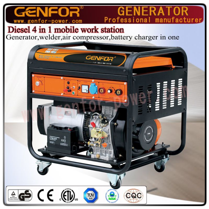 GF11-Dawa Diesel 4 in 1 Mobile Work Machine for Generator, Welder, Battery Charger and Air Compressor