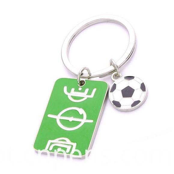 Promotion Customized Enamel Cmyk Printing Logo Epoxy Key Chain (F1117)