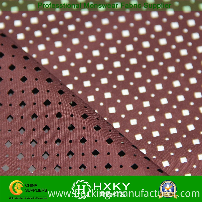 Circle with Diamond Shape Perforated Polyester Fabric for Sportswear