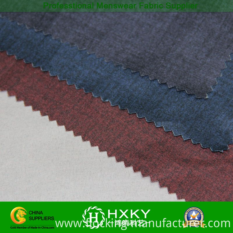 Polyester Pongee Fabric with Printed for Men's Casual Jacket