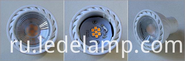 220V Dimmable 5W Gu5.3 Warm White COB LED Spotlight Bulb