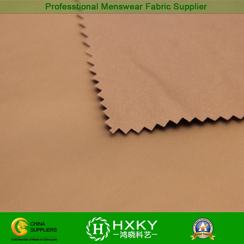 75D Filament Polyester Fake Memory Fabric for Trench or Down Coat