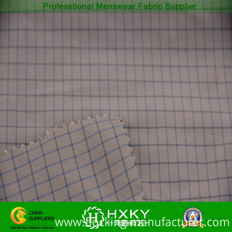 Plaid Polyester Fabric with Yarn Dyed for Garment