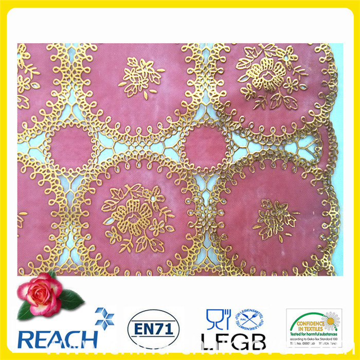 Red PVC Lace Table Runner/ Table Doily (JFBD-005)