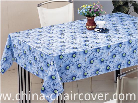 Factory Wholesale Cheap Tablecloth PVC Material Transparent Tablecloth (TT0284)