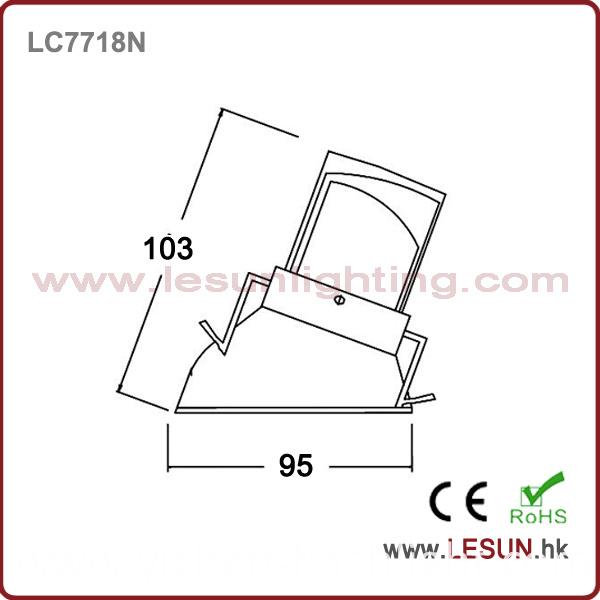 Commercial Lighting High Power LED COB Downlight 8W LC7718n